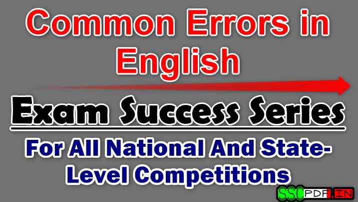 Common Errors in English-By S. Chand's Exam Success Series